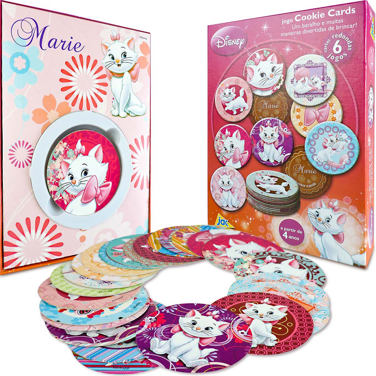 Coleção Jogo da Memória + 5 Jogos Marie Disney Cookies Toyster