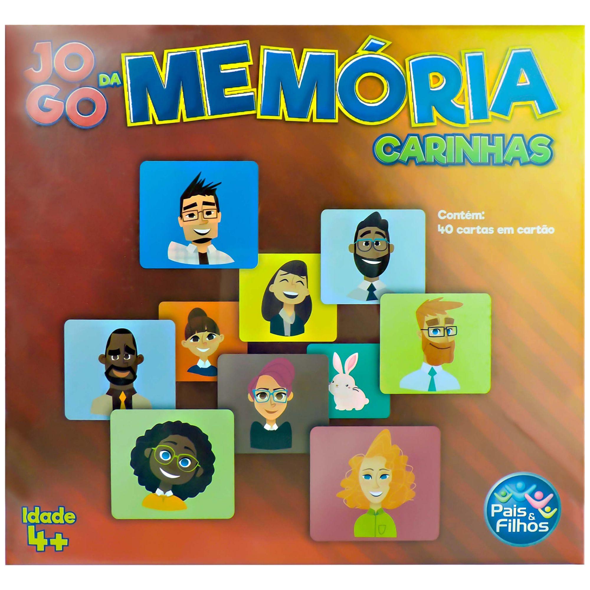 Jogo da Memória Carinhas Educativas Pais e Filhos