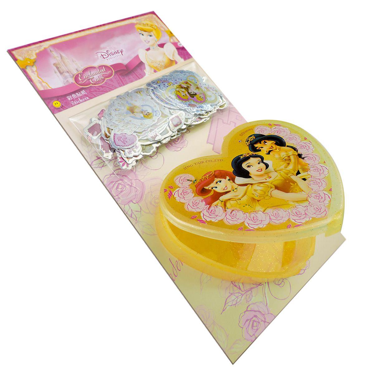 Kit 300 Mini Adesivos Com Porta Adesivos Princesas Disney