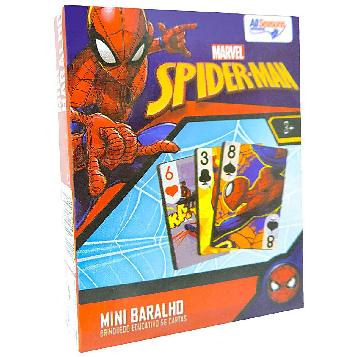 Memória Dominó E Baralho Homem Aranha Cartonados Destaque e Brinque