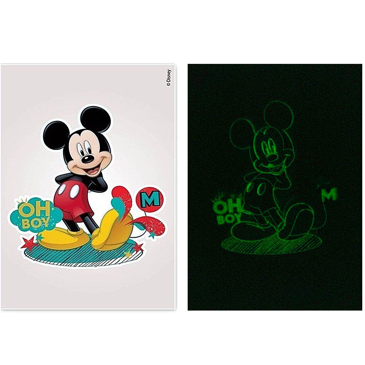 Kit 10 Cartelas Adesivos de Parede Brilha no Escuro Mickey Disney