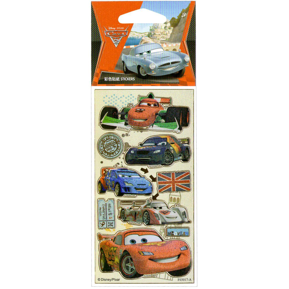 Kit Com 3 Cartelas De Adesivos Infantil Carros Disney