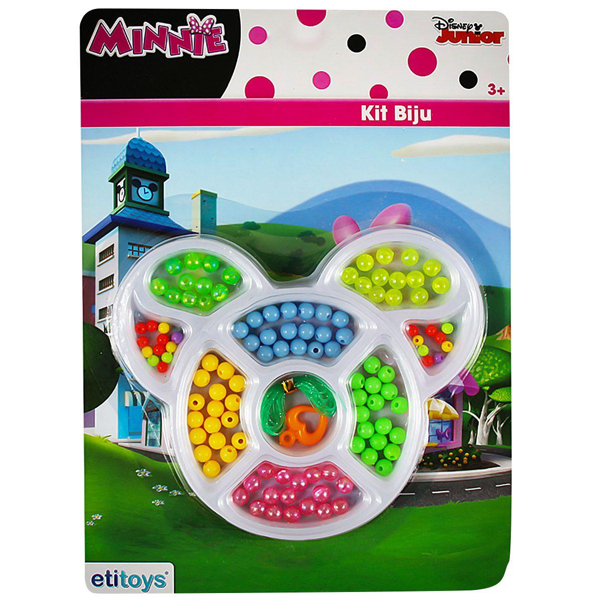 Kit Miçangas Monte Suas Pulseiras Minnie Disney