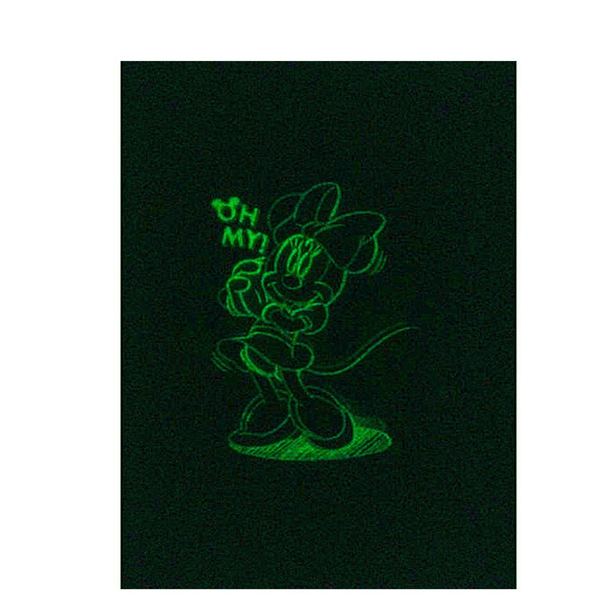 Kit  Minnie 10 Cartelas Adesivo Parede que brilha no Escuro Minnie Disney