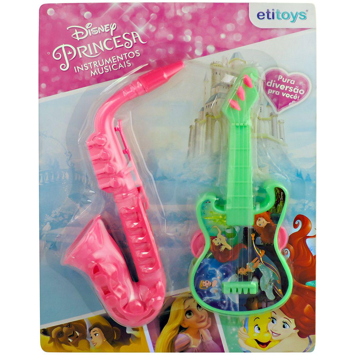 Kit Musical Bandinha Saxofone e Pandeiro Princesas Disney