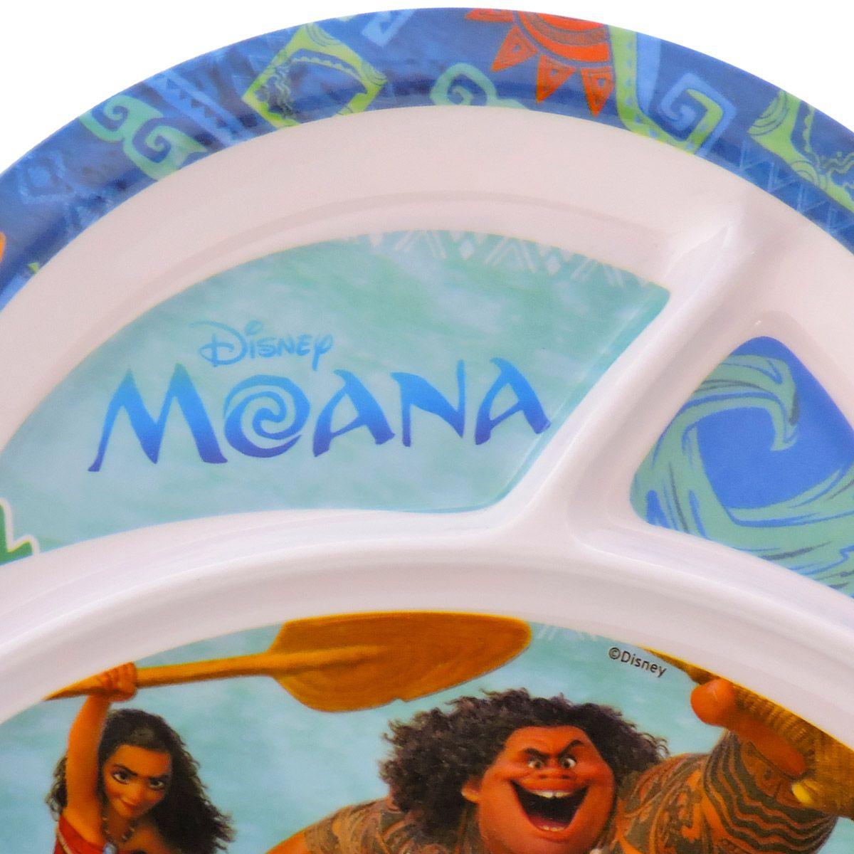 Kit Refeição Infantil Com Prato Tigela E Caneca Moana Disney