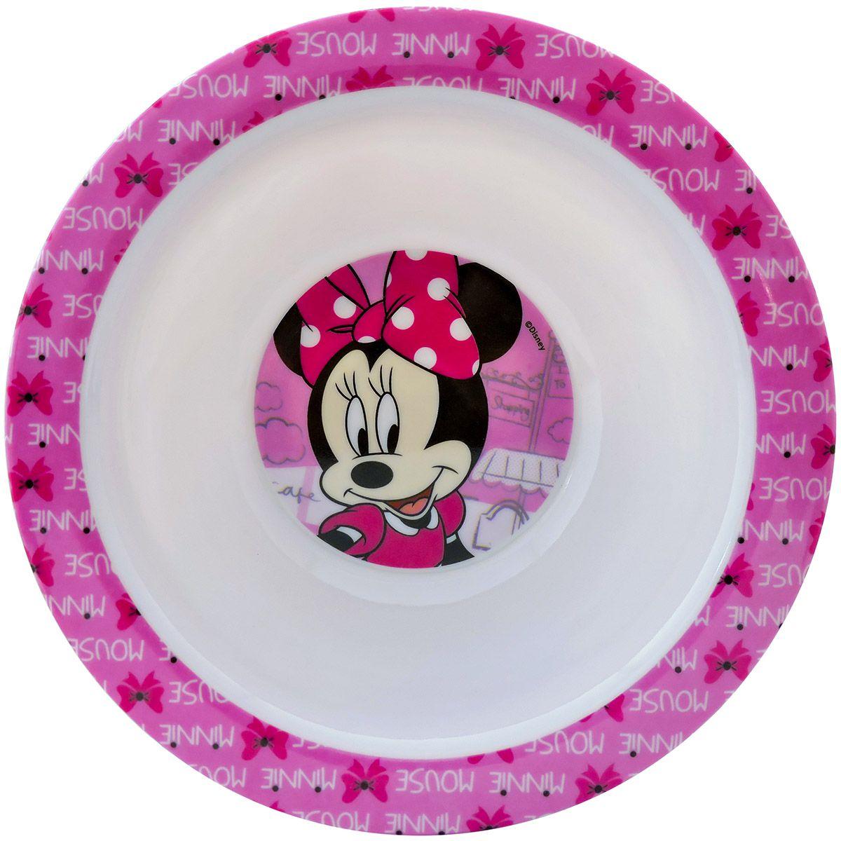 Kit Refeição Infantil Tigela e Jogo Americano Minnie Disney