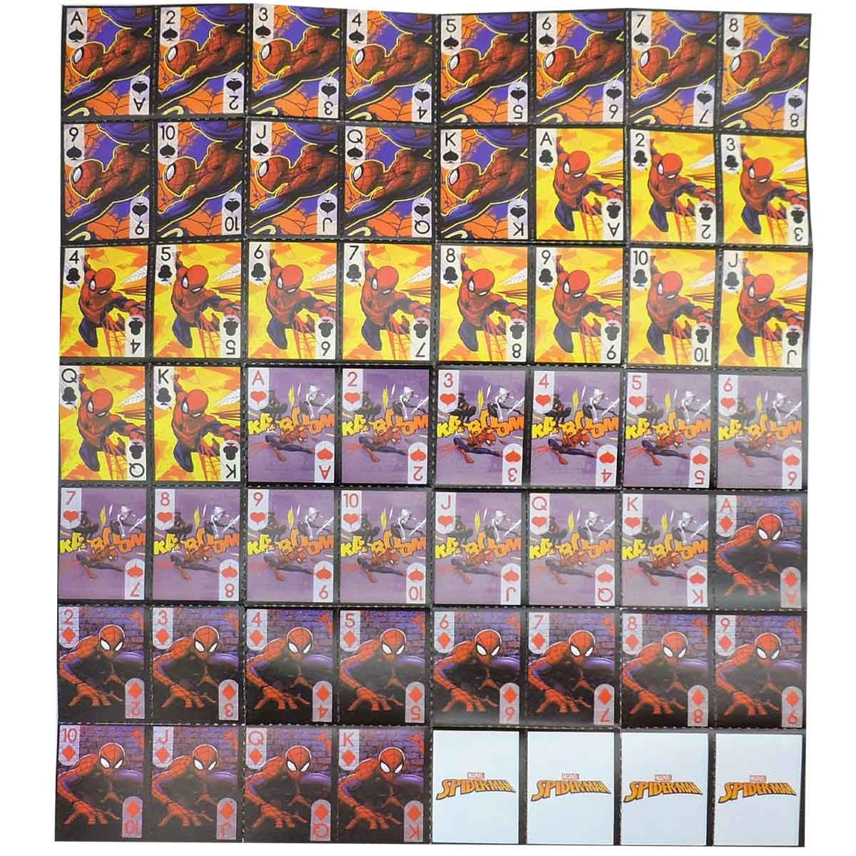 Festa Lembrancinha 12 Unidades Mini Baralho Homem Aranha Marvel