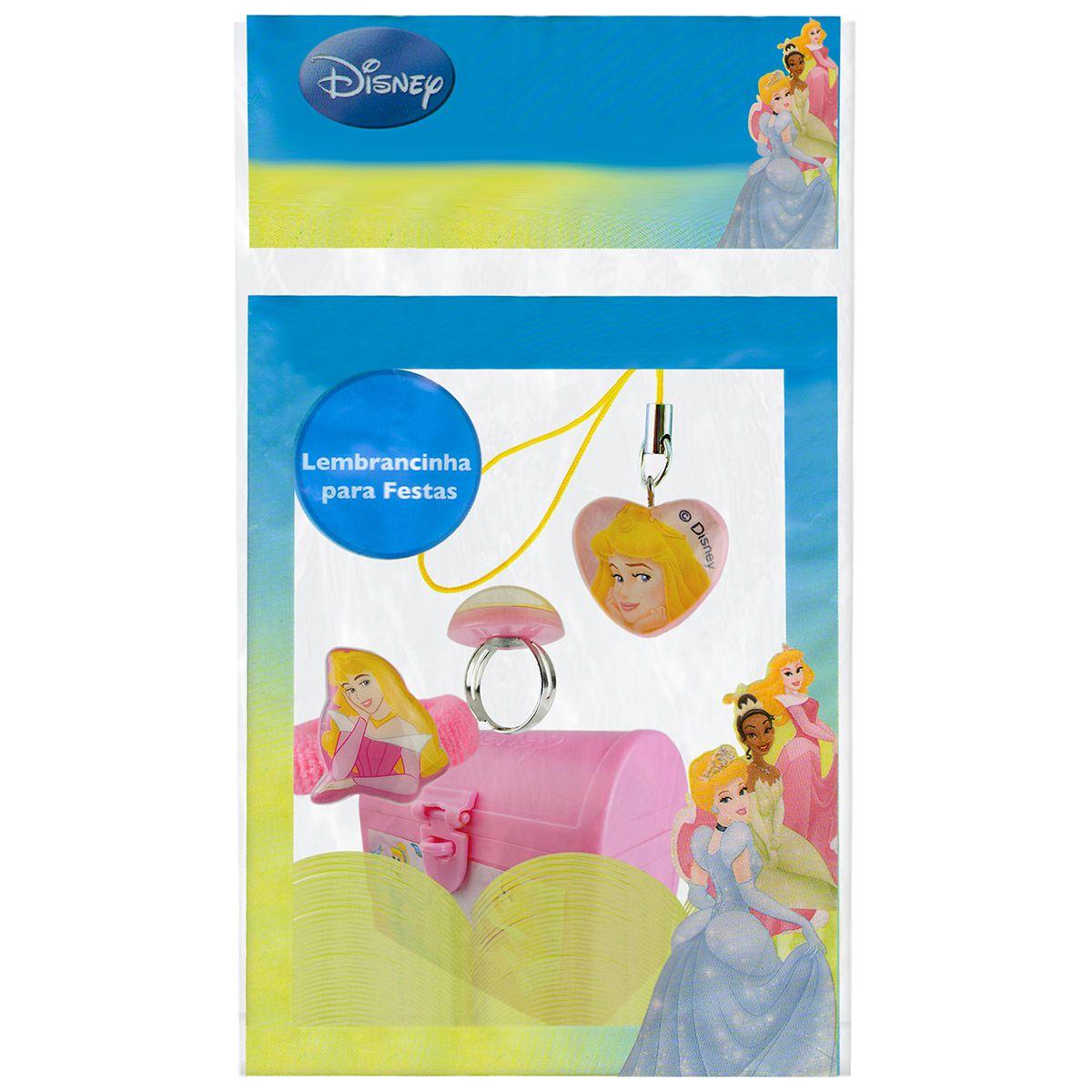 Mini Baú de Princesa Aurora com Anel Pingente e Maria Chiquinha