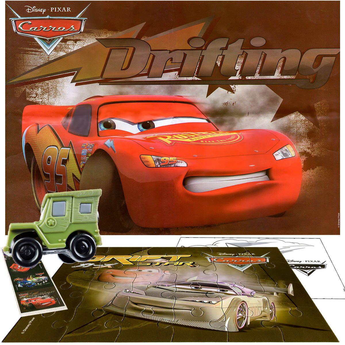 Sargento Personagem Carros Disney + Quebra Cabeça + Posters +Adesivo