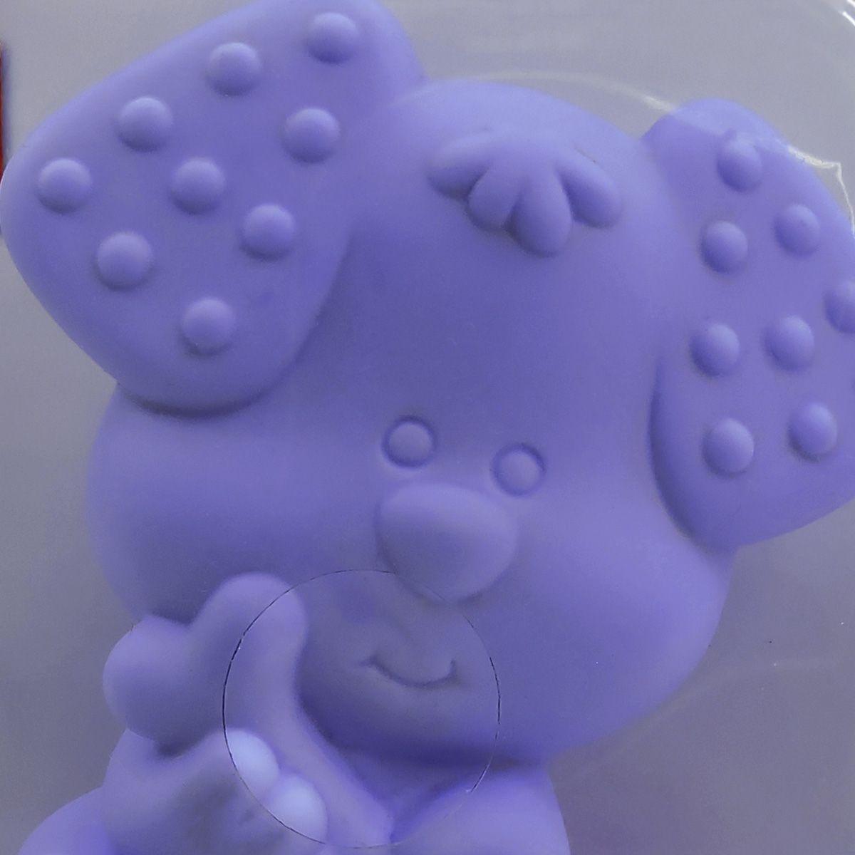Mordedor Cachorrinho Lilás Macio Anatômico e Higiênico Toyster