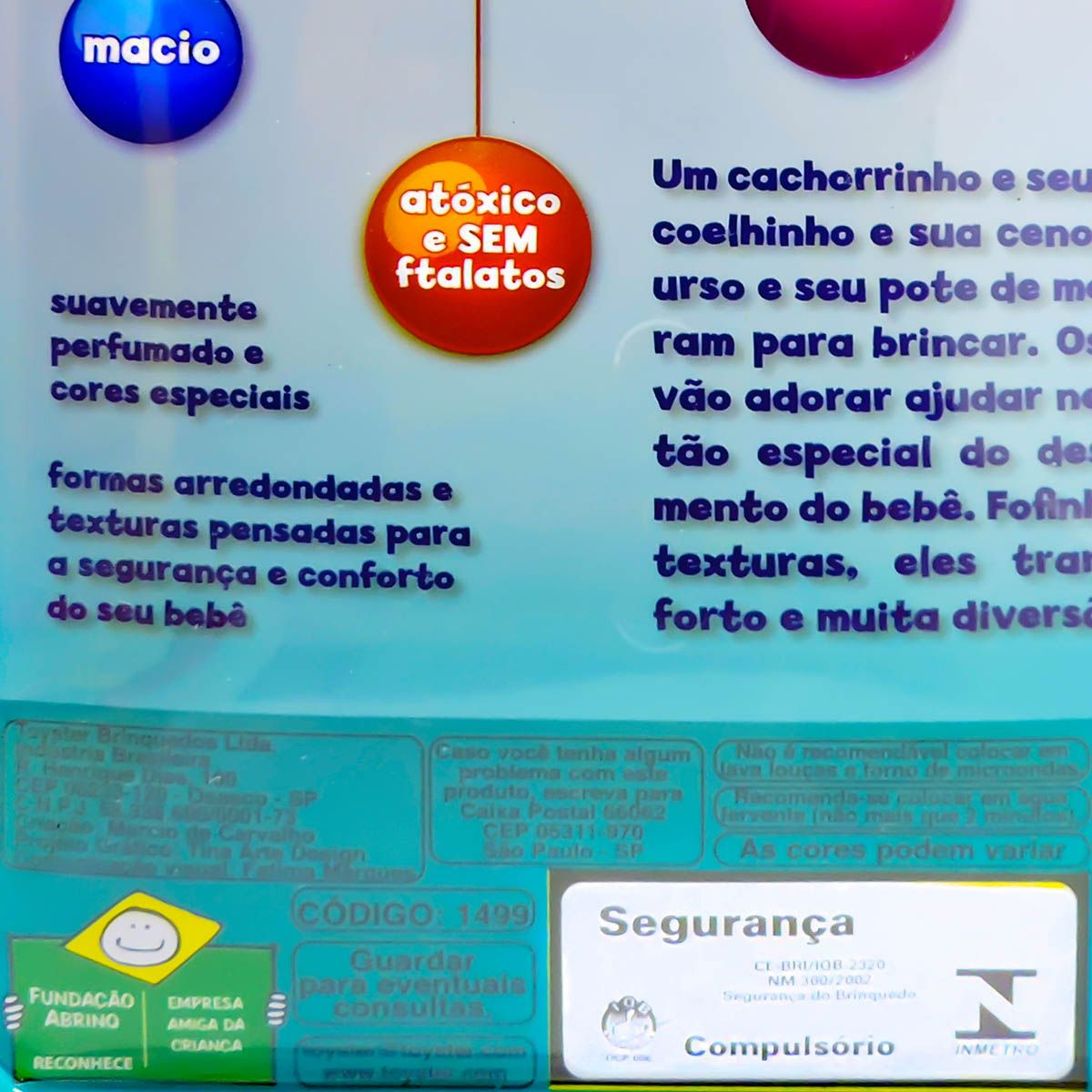 Mordedor Ursinho Rosa Macio Anatômico e Higiênico Toyster
