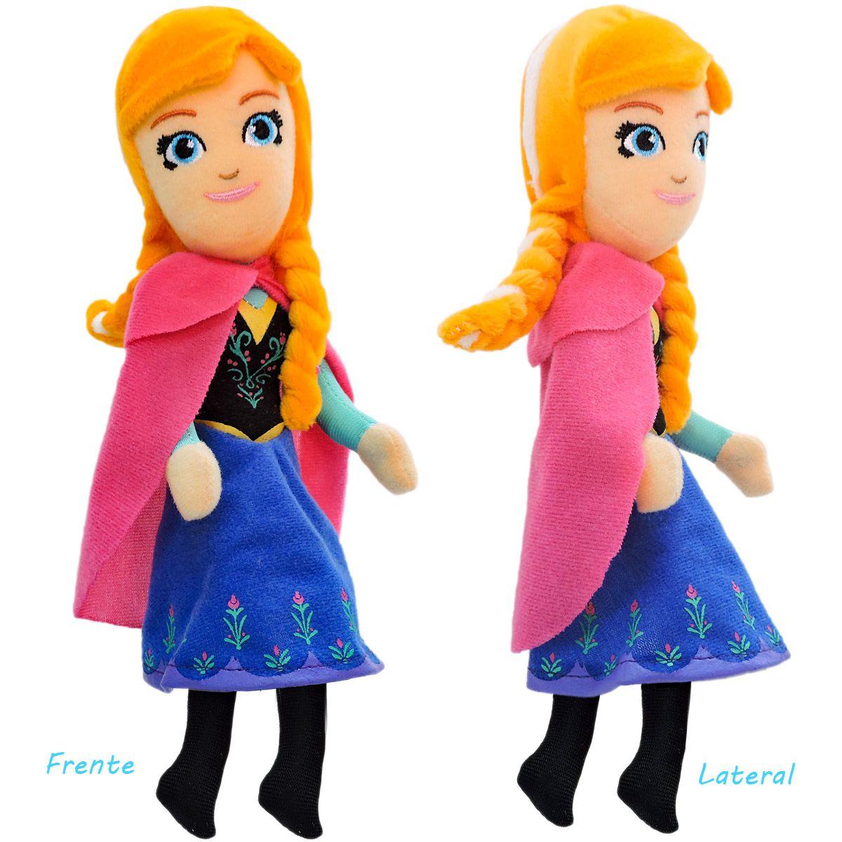 Pelúcia Anna Frozen Boneca Princesa Disney