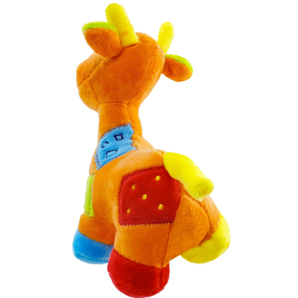 Pelúcia Com Chocalho Infantil Girafa Laranja - Unik Toys