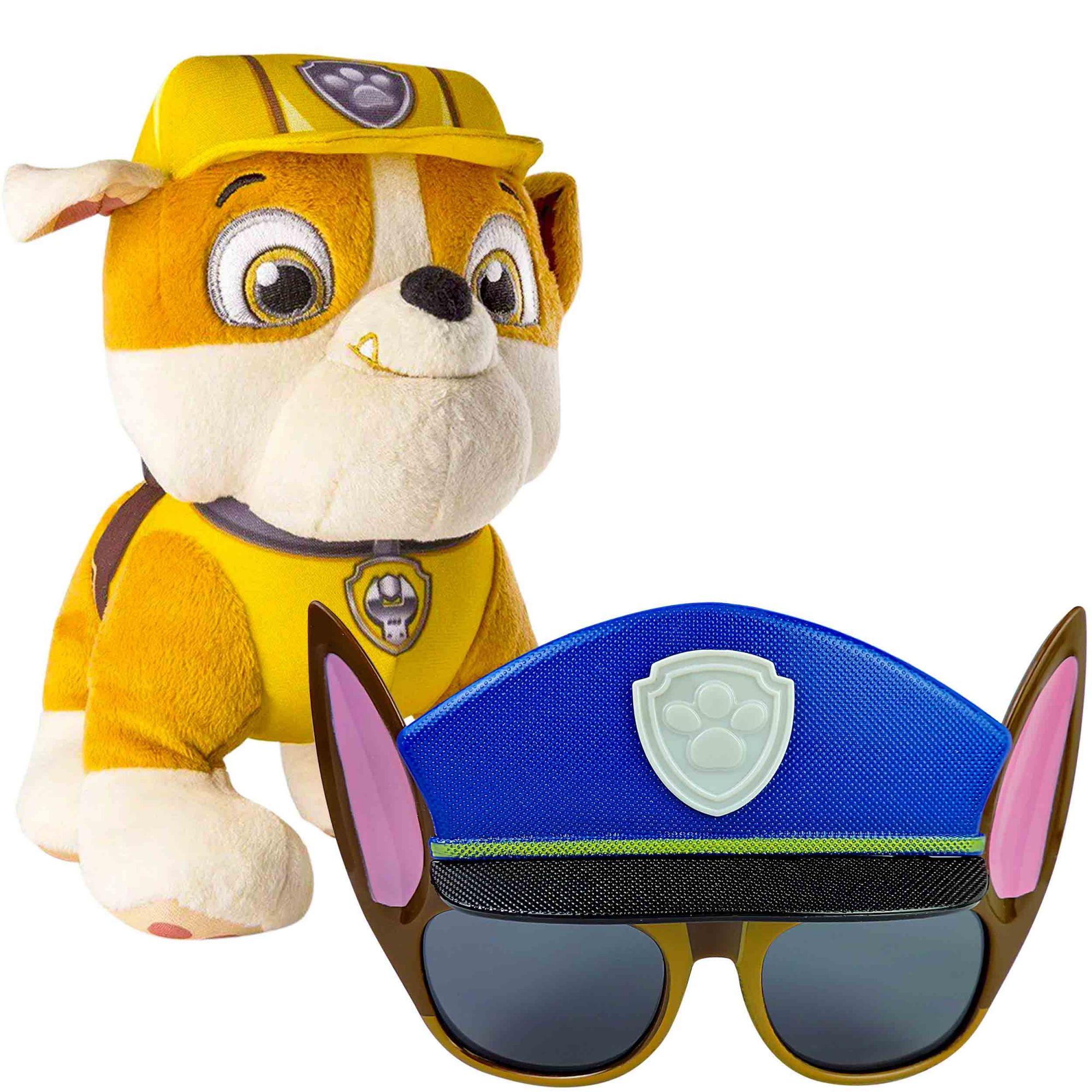 Pelúcia Patrulha Canina Rubble e Óculos De Sol Proteção Uv-400