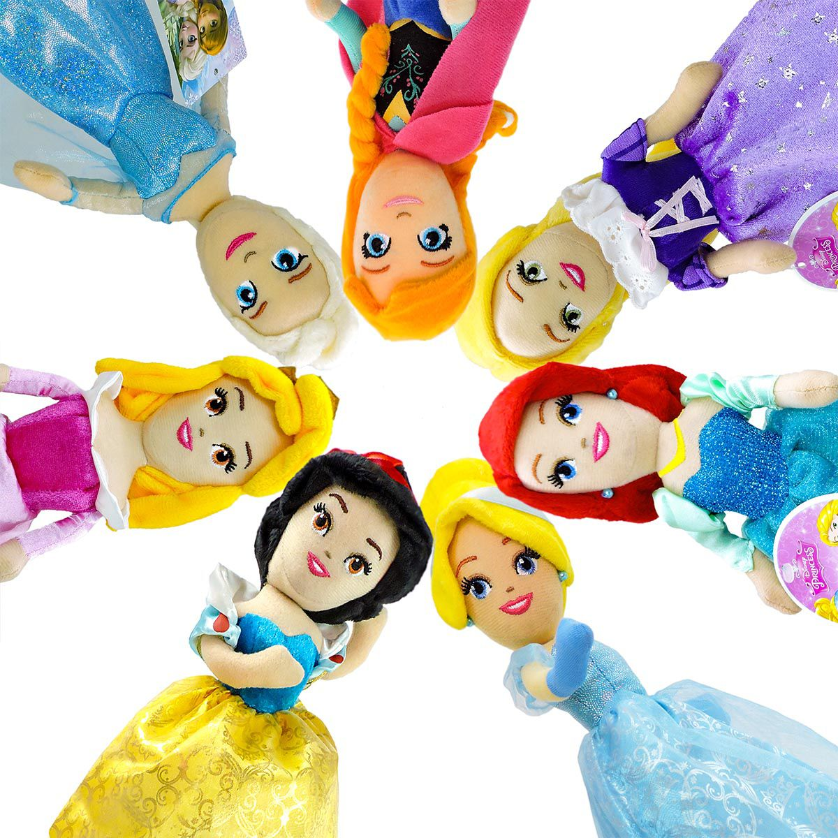 Pelúcias Princesas Cinderela Ariel Anna Elsa Rapunzel Aurora e Branca  de Neve