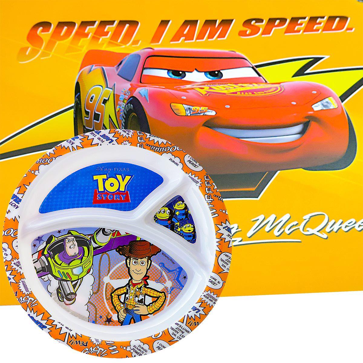 Prato Infantil Toy Story E Jogo Americano Relâmpago Mcqueen