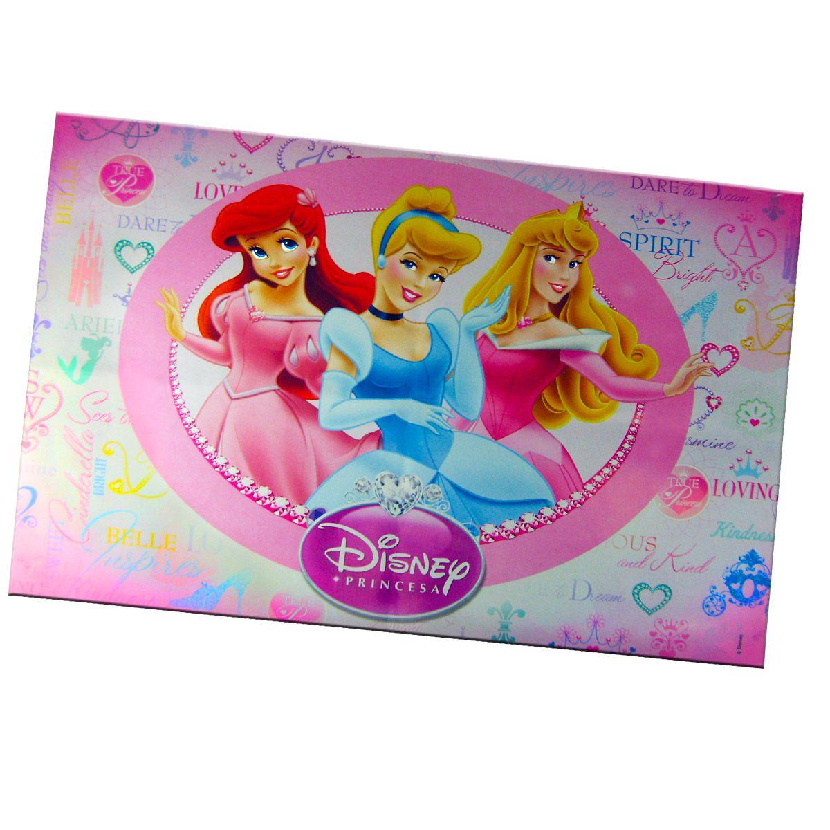 Sacolinha  Surpresa Branca de Neve com Chaveiro Princesas Disney + 4 Itens