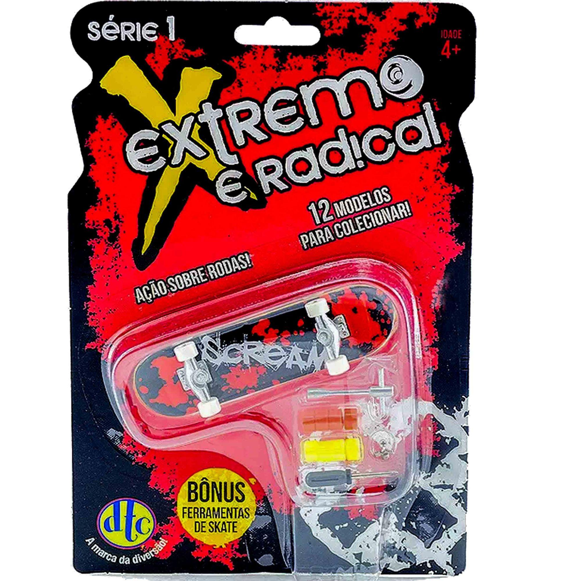 Skate Extremo E Radical Scream Com Acessórios
