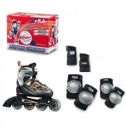 Combo Infantil Patins Fila X-One 2 Sets Boy