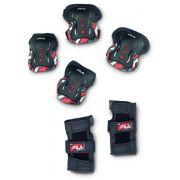 Kit de Proteção Fila Junior Boy FP Black/Red
