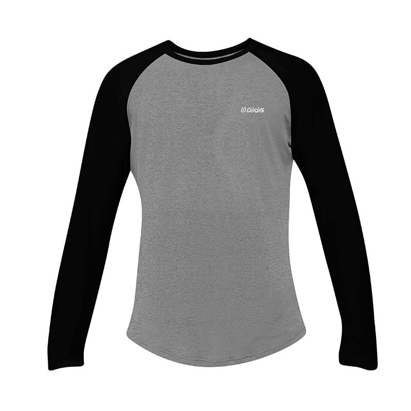 Camiseta Masculina M/L Cinza e Preta com Proteção UV