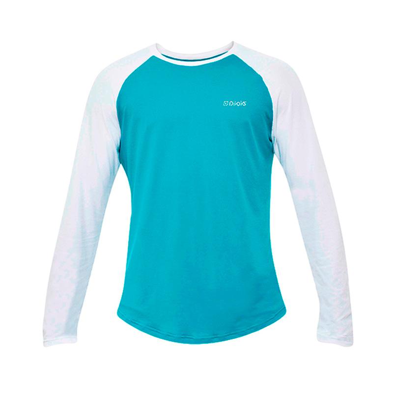 Camiseta Masculina M/L Verde e Branca com Proteção UV