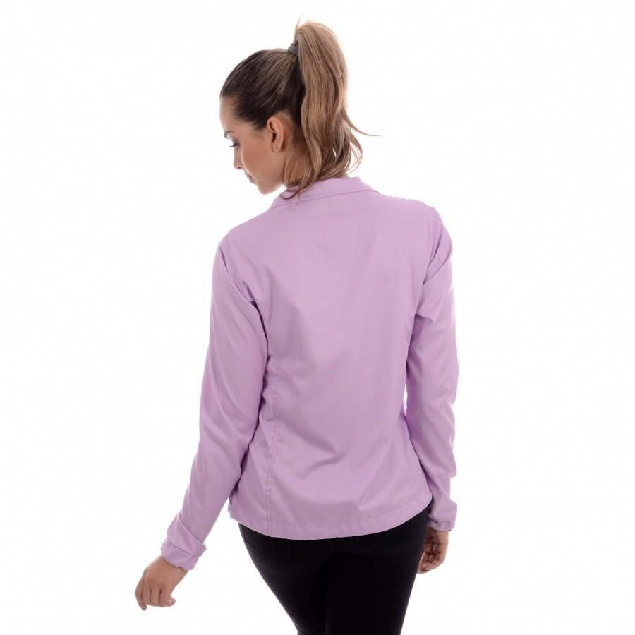 Jaqueta Feminina Running CLN Divoks com Proteção UV Lilás