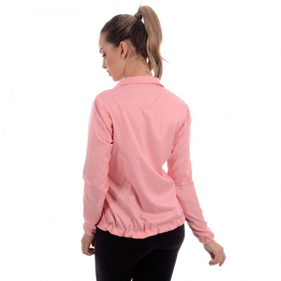 Jaqueta Feminina Running CLN Divoks com Proteção UV Rosa