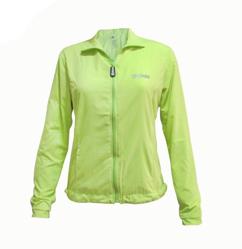 Jaqueta Feminina Running CLN Divoks com Proteção UV Verde Citrus