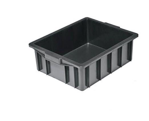 Caixa organizadora empilhável - Preta  - MCZ FORTES