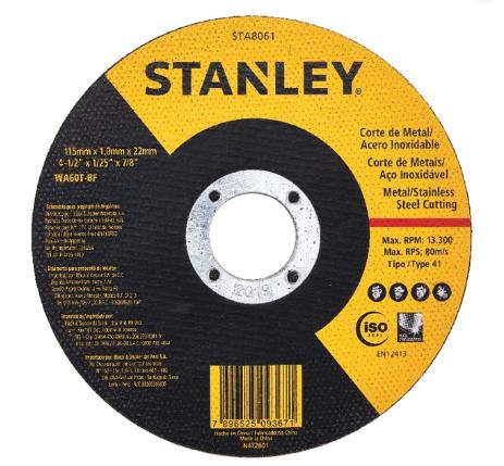 Disco de Corte - Stanley  - MCZ FORTES