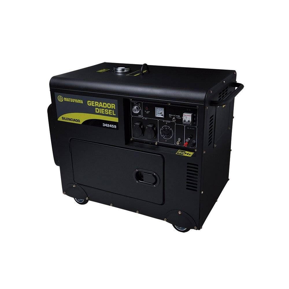 Gerador de Energia 6500 Silenciado - Diesel Matsuyama