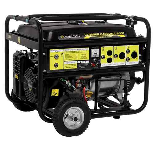 Gerador de Energia 8000 - Gasolina Matsuyama  - MCZ FORTES