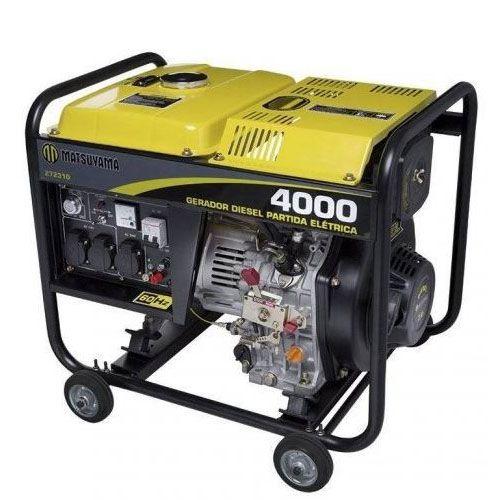 Gerador de Energia 4000 Diesel 220V - Matsuyama   - MCZ FORTES