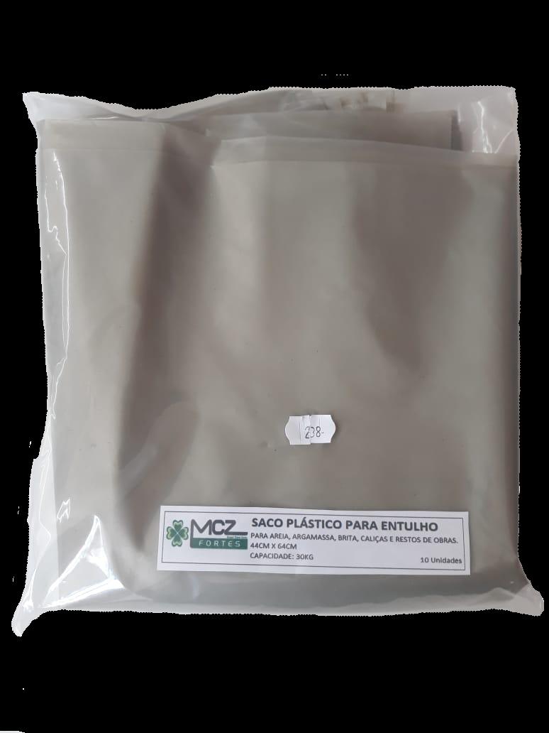 Saco plástico para Entulho - 30kg (10 unidades)  - MCZ FORTES