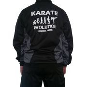 Agasalho Karate Evolution Preto/Cinza