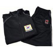 Agasalho Taekwondo Korea Martial Arts Shodo nas cores: Preto ou Azul escuro