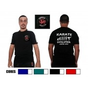 Camiseta Karate Evolution c/bordado Shotokan 2 peito