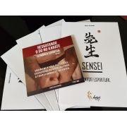 Combo Livro: Sensei  A Jornada Espiritual + Dvd Resgatando O Do No Karate + 1 Mini Kimoninho Karate de Brinde