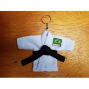 Mini Kimoninho Branco Aikido c/corrente e argola