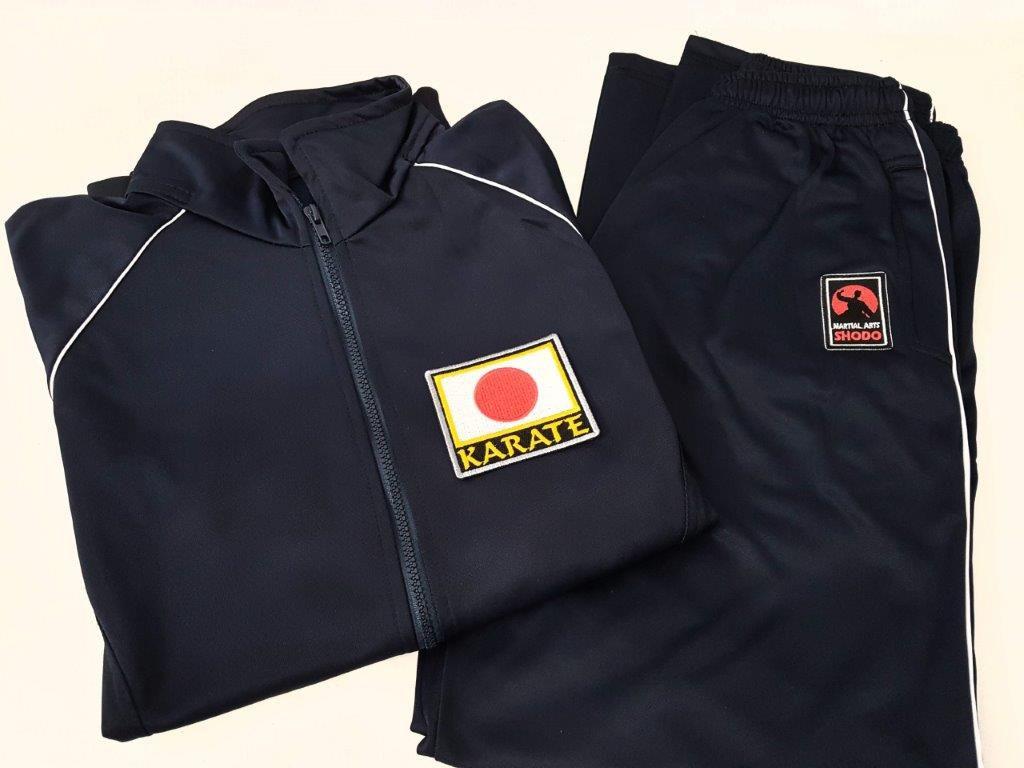 Agasalho Karate Japão Martial Arts Shodo nas cores: Preto ou Azul escuro