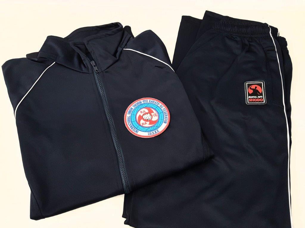 Agasalho Karate Shorin Ryu Martial Arts Shodo nas cores: Preto ou Azul escuro