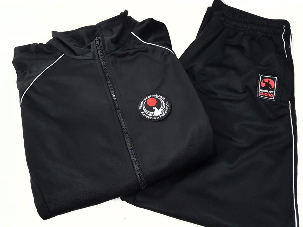 Agasalho Karate Wado Ryu Martial Arts Shodo nas cores: Preto ou Azul escuro