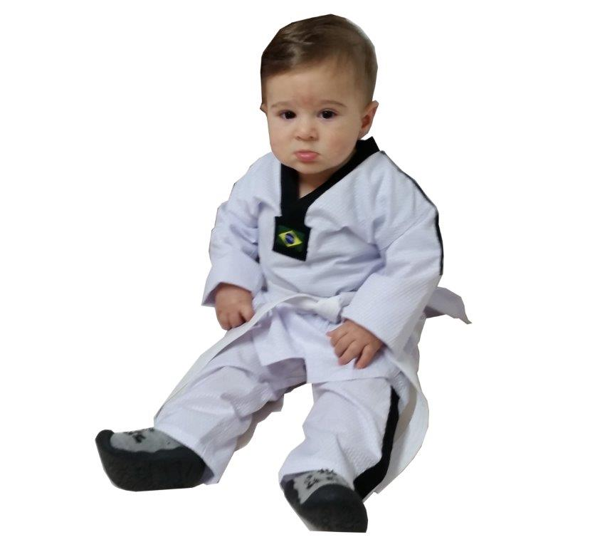 Dobok Taekwondo Bebe 1 Ano em tamanho unico