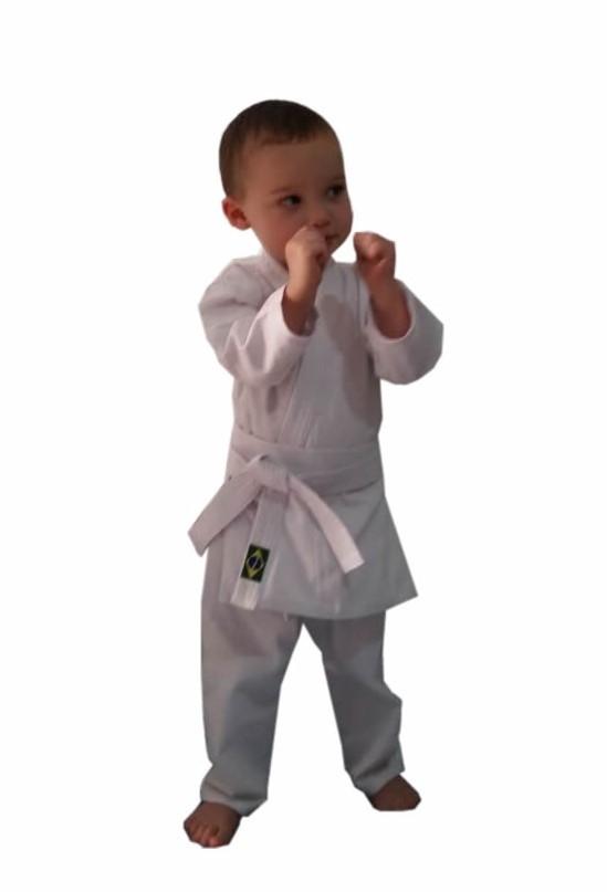 Kimono Bebe a partir de 1 Ano Karate/Judo/Jiu Jitsu/Aikido/Hapkido/Krav Maga C/faixa branca ou preta