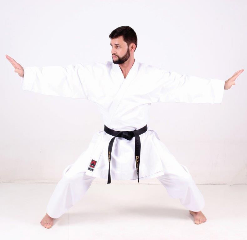 Kimono Karate Adulto Lona K10 medium canvas Linha Premium Martial Arts Shodo