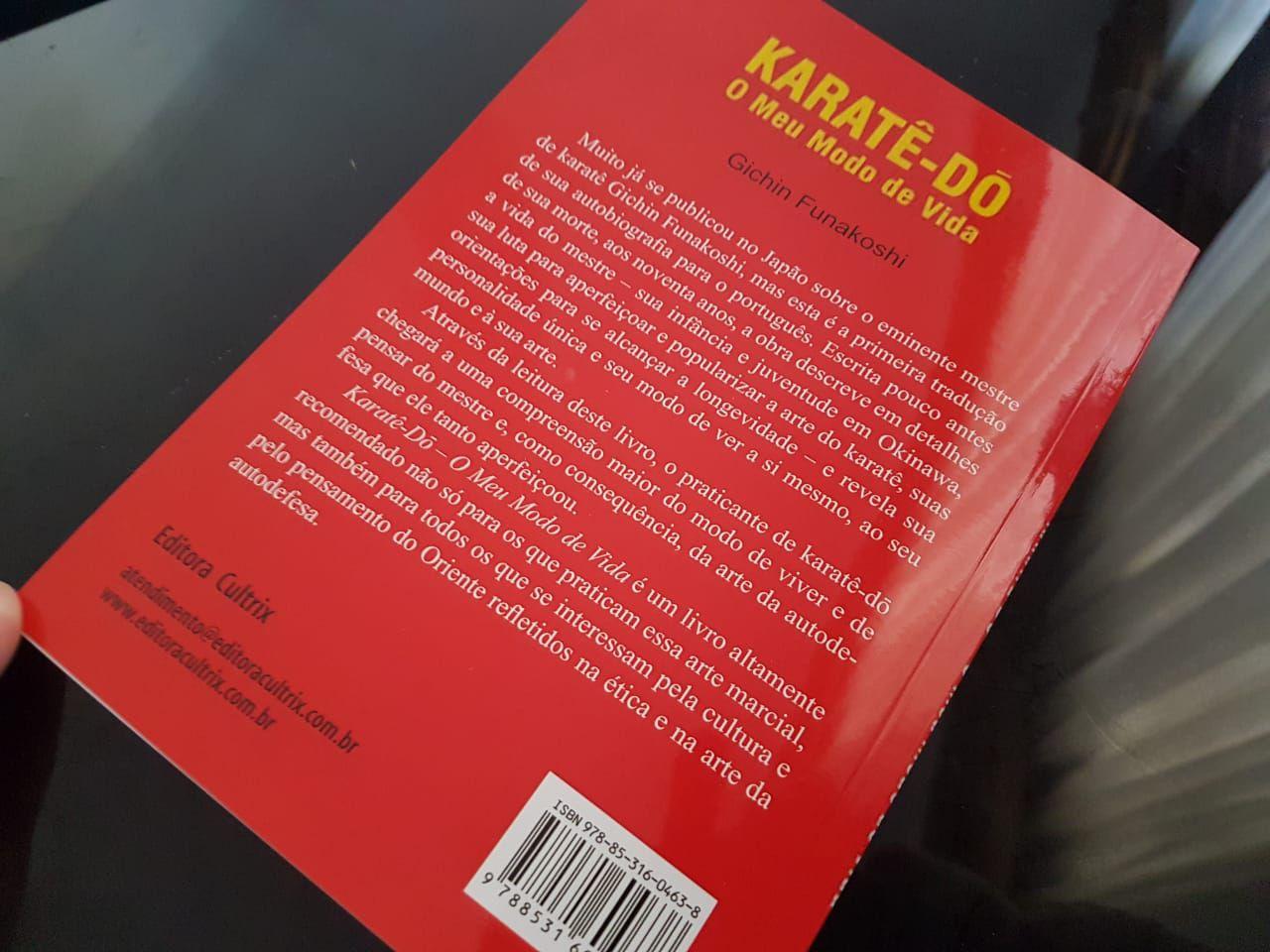LIVRO KARATE-DO - O MEU MODO DE VIDA + 1 Chaveiro Faixa Preta Martial Arts Shodo de Brinde