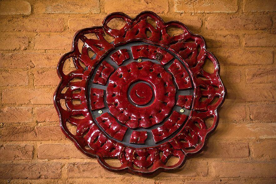 Mandala Mosaico Vermelha