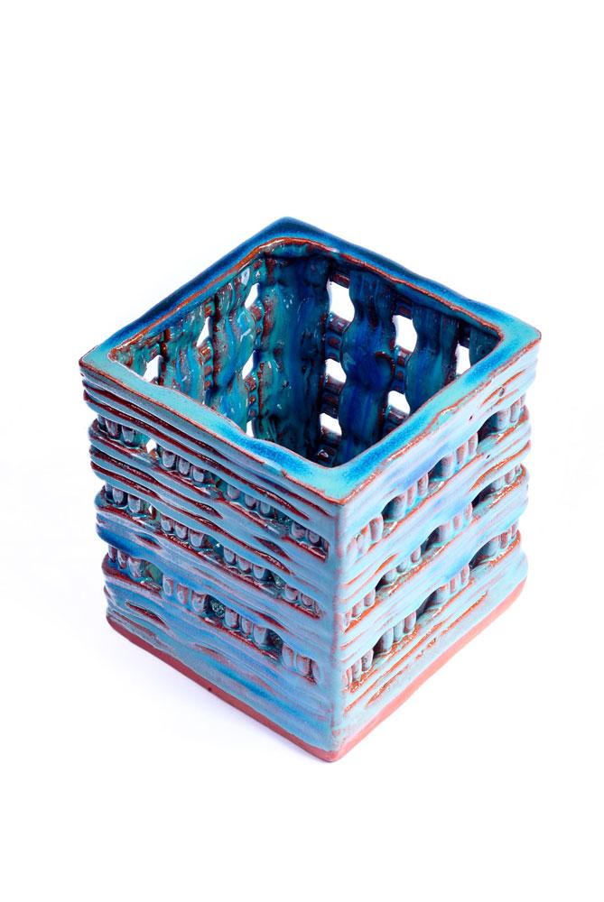 Quadradinho Azul Jade
